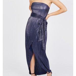 NWT BCBGengeration Metallic Strapless Dress!